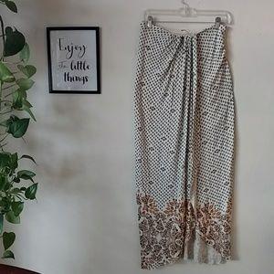 Boho Free people faux wrap maxi skirt S